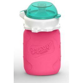 Squeasy Gear Silikonová kapsička na dětskou stravu 104ml, růžová