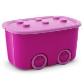 KIS Úložný box Funny - růžový, 46 l