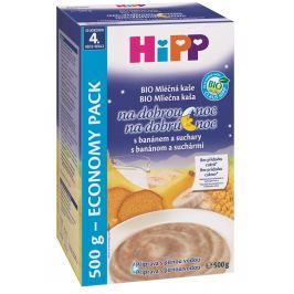 HiPP BIO Mléčná kaše na dobrou noc s banánem a suchary