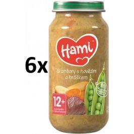 Hami Příkrm brambory s hovězím a hráškem, 6x250g