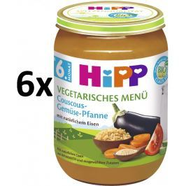 HiPP BIO Kuskus se zeleninou - vegetariánské menu, 6x190g
