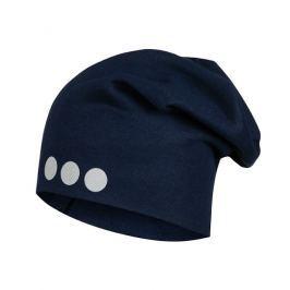 Lamama Dětská čepice s reflexním potiskem  - tmavě modrá