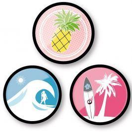 Nikidom Sada odznáčků Roller Pins Aloha