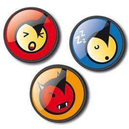 Nikidom Sada odznáčků Roller Pins Emoticons Fun