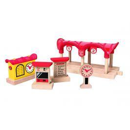Hape Toys Železniční stanice svítící