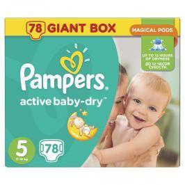 Pampers Active Baby-dry 5 Junior, 78 ks (11-18 kg) - jednorázové pleny