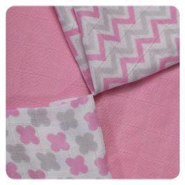 XKKO Bambusové ubrousky Scandinavian 30x30 cm, 9ks, Baby pink mix