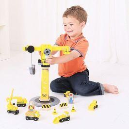 Bigjigs Jeřáb a stavební stroje Stavební auta, bagry, jeřáby