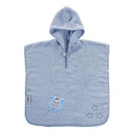 XKKO BIO bavlněné froté pončo Organic - Baby Blue