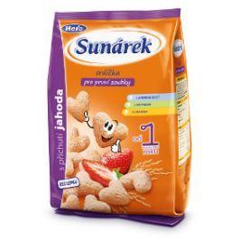 Sunárek dětský snack jahodová srdíčka 2x50g