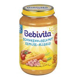 Bebivita Těstoviny se šunkou a zeleninovou směsí 6x220g