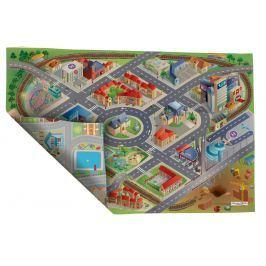 House of Kids Dětská oboustranná hrací podložka Okres/Město, 100x150 cm