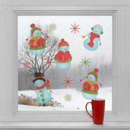 Housedecor Samolepky na sklo Sněhuláci