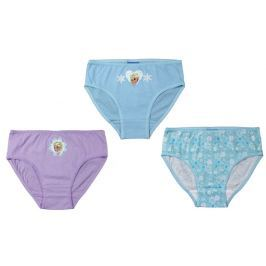 E plus M Dívčí set 3ks kalhotek Frozen - růžovo-modrý