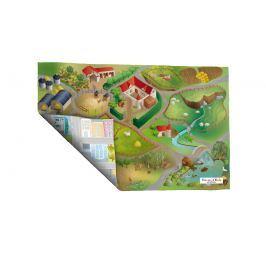House of Kids Dětská oboustranná hrací podložka Okres/Farma, 100x150 cm