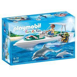 Playmobil Sportovní člun s potápěči a delfíny