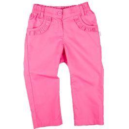 MMDadak Dívčí kalhoty s volánky - růžové