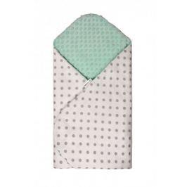 T-tomi Rychlozavinovačka MINKY, white - green / grey dots