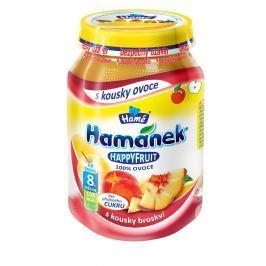 Hamánek HAPPYFRUIT 100% ovoce s kousky broskví 6x190g