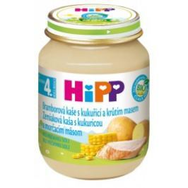 HiPP BIO Bramborová pyré s kukuřicí a krůtím masem 6x125g