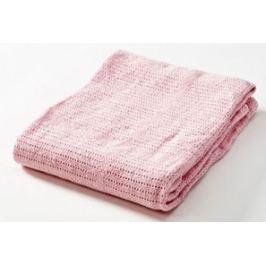 Baby Dan Dětská háčkovaná bavlněná deka Babydan světle růžová
