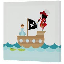 Mr. FOX Nástěnný obraz Peter - pirát, 27x27 cm