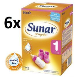 Sunar kojenecké mléko Complex 1, 6x600g