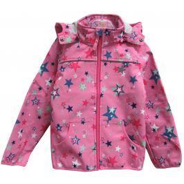 Topo Dívčí softshellová bunda s hvězdičkami - růžová