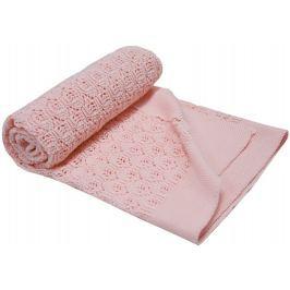EKO Letní pletená deka - Růžová