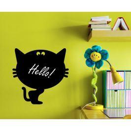 Ambiance Samolepící tabule černá - kočička