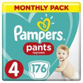 Pampers Plenkové kalhotky Pants 4 Měsíční balení8-14 kg, 176 ks