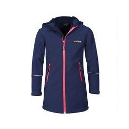 Trollkids Dívčí modrý kabátek s růžovými zipy
