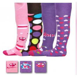 PIDILIDI Dívčí set 4ks froté dívčích punčocháčů - barevný