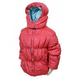 PIDILIDI Dívčí puntíkovaná bunda Puffy - růžová