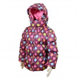 PIDILIDI Dívčí puntíkovaná bunda Puffy - fialová