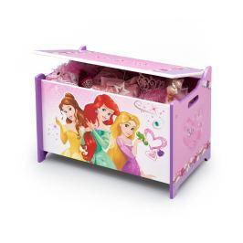 Delta Dřevěná truhla na hračky Princezny
