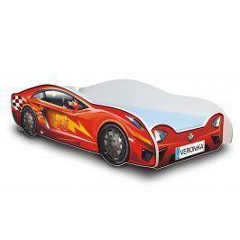 Ourbaby Dětská postel Závodní auto, 180x80 cm