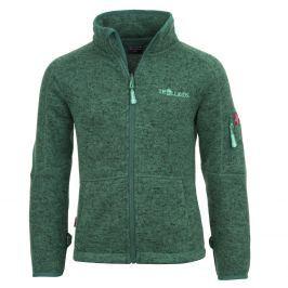 Trollkids Dětská fleecová bunda Jondalen - tmavě zelená