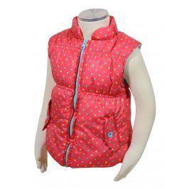 PIDILIDI Dívčí vesta s barevnými puntíky - růžová