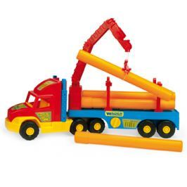 WADER Auto Super Truck stavební s rourami - 2 barevné varianty