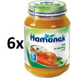 Hamánek Kuře se zeleninou a rýží 6x190g