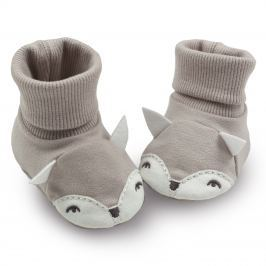 Pinokio Dětské capáčky/ponožky s liškou - béžové