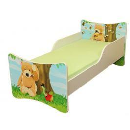 Ourbaby Dětská postel Medvídek, 140x70 cm