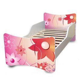 Ourbaby Dětská postel Květinky, 160x70 cm