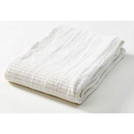 Baby Dan Dětská háčkovaná bavlněná deka Babydan - bílá
