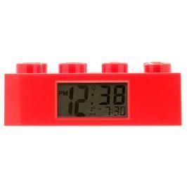 LEGO® Watch & Clock Dětské hodiny s budíkem Brick - červené