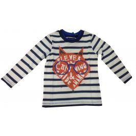 Blue Seven Dětské proužkované tričko s liškou - modro-bílé