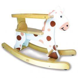 Vilac Dřevěný houpací kůň - bílý