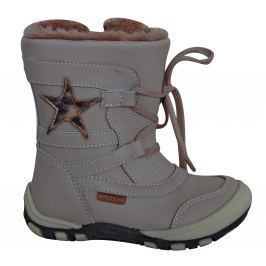 Protetika Dívčí zimní boty s hvězdičkou Verona - béžové 63e272e318