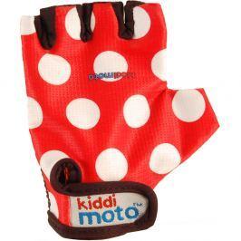 Kiddimoto Cyklistické rukavice Dotty - červené , velikost S